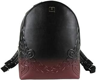 MCM Unisex Rustic Brown/Black Leather Medium Backpack MMK8ADI07NK001