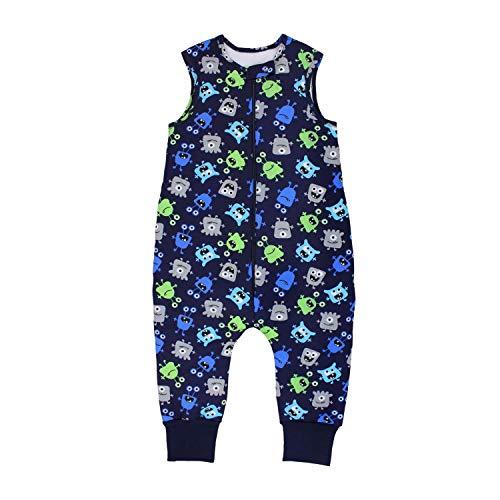 TupTam Baby Unisex Winter Schlafsack mit Beinen, Farbe: Süße Monster Dunkelblau, Größe: 104-110