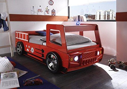 AVANTI TRENDSTORE - Spello - Letto camion da pompiere con illuminazione LED compresa, dimensioni: LAP 108x91x225 cm