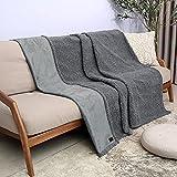 Catalonia Wasserdicht Decke, Tagesdecke Bett Sofaüberwurf Kuscheldecke Schonbezug Couchschoner Wasserabweisend Wohndecke Überwurf Fleece Sherpa Decke for Bett Couch Sofa 203x152cm