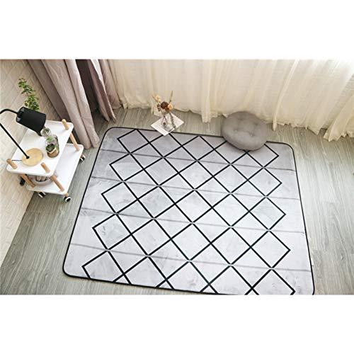 JJSDT Tapijtstijl, flanel, fluweel, geometrische mat, voor woonkamer, vloer, kinderkruipen, speelmatten, thee, tafel, tapijten