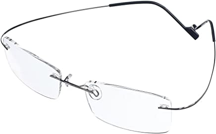 393e71e1032 Bi Tao Super Light 100% Titanium Reading Glasses 1.25 Men Women Fashion  Rimless Reading Eyeglasses