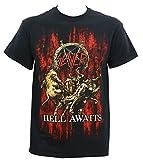Global Slayeren's Hell Awaits T-Shirt,Black,X-Large