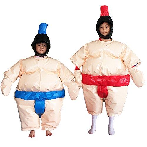 Sumo Suit Wrestling Kids Set 2 Suits Helmet Glove Floor Mat/3 Color Options (Beige)