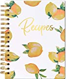 Blank Recipe Book to Write in Hardcover Spiral Bound - Empty Recipe Notebook/Journal - Make Your Own Cookbook For Family Recipes - Diy Cook Diary Organizer Keeper