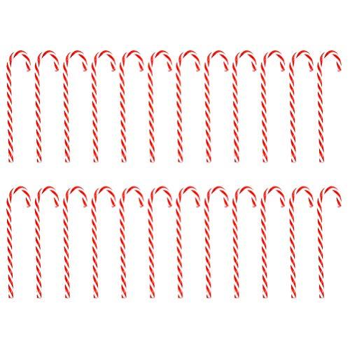 LIOOBO 30pcs Netter Weihnachtsbaum Zuckerstange Ornament Krücke Anhänger-Dekor-Weihnachtsbaum-hängende Dekoration für Partei-Festival
