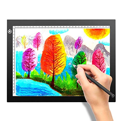 A4 Portable LED Light Box Trace, LITENERGY Light Pad USB Power LED Artcraft Tracing Light Table for...