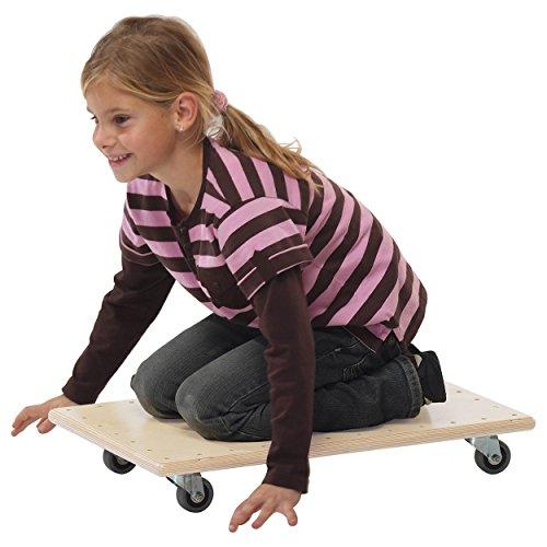 Pedalo Rollbrett aus Mehrschichtholz, Transportroller, Rollwagen, Kinder