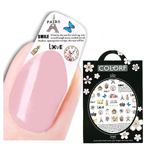 JUSTFOX - 3D nagel sticker Nail Art sticker Parijs parfum schilderij sticker New Design