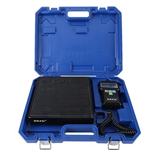 Escala de Refrigerante Electrónica, 220lb/100kg Báscula Electrónica Refrigerante de Carga de Precisión Calibration Peso Etalonnage con Pantalla LCD y Estuche para Aire Acondicionado