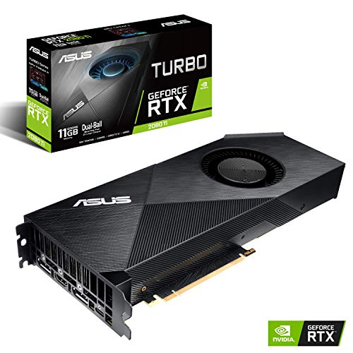 ASUS NVIDIA GeForce RTX 2080 Ti Turbo 11G Gaming Grafikkarte (PCIe 3.0, 11GB DDR6 Speicher, HDMI, Displayport, USB Type-C)