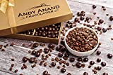 Andy Anand's Vegan Sugar Free Dark Chocolate Espresso Coffee Beans 1 lb, Amazing Taste, Delicious, Delectable, Gift Boxed & Greeting Card Birthday Valentine Day Christmas Holiday Gifts Mothers Day