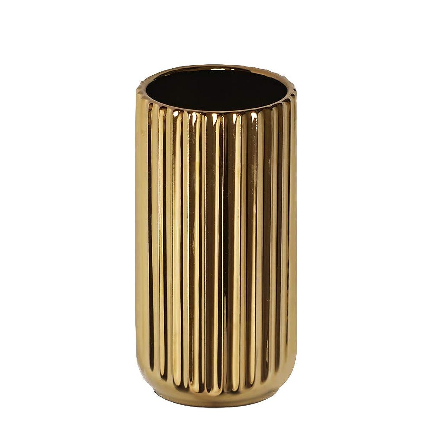 水差し故障等価ゴールド フラワーベース おしゃれ花器花瓶陶器 生け花 置物 花