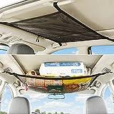 auflosung rete da auto soffitto, tasca universale interni portaoggetti rete per soffitto auto, rete da carico per soffitti auto, universale rete portaoggetti da soffitto per auto, (80*55cm)
