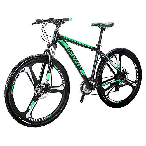 Eurobike Mountain Bike X9 Bicycles 29' 21Speed Dual Disc Brake Spoke Wheels Bike