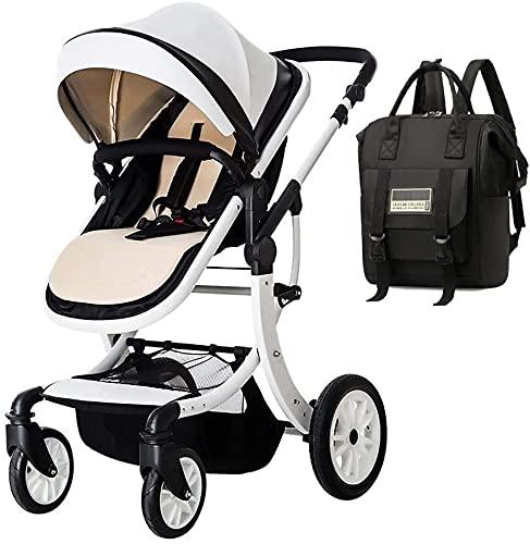 Cochecito de bebé Portátil y liviano Cochecito de bebé Cochecito de bebé Recién nacido, cochecito infantil Sistema de viaje de bebé con mochila de bolsa de pañales, cochecito ligero con cómodo pliegue