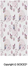 SCOCICI Oversized Pool Beach Towel 37×74(in),Butterflies and Branches Romantic Spring Retro Faith Optimism Change Fly Theme,Used at The Pool and It Fits Most of Chair