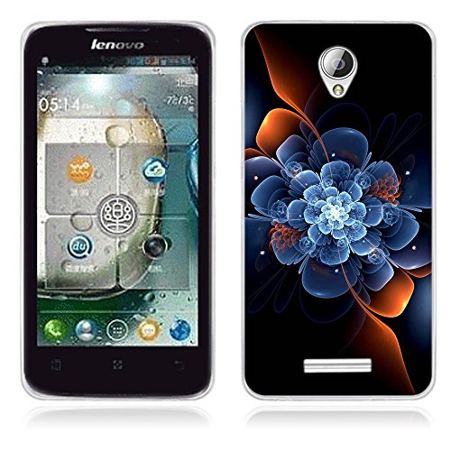 FUBAODA for Lenovo A5000 case, Artistic [Imagine] TPU Soft Case Rubber Silicone Skin Cover for Lenovo A5000