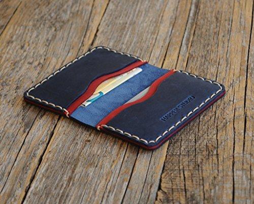 Personalisierte Kartenhülle Geldbörse Portemonnaie, langlebige Aufbewahrung von ID, Kreditkarten und Banknoten mit Prägung Gravur, Lederbrieftasche mit Wunschnamen