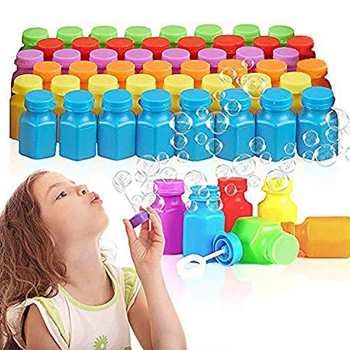 48 Mini Burbujas de Jabón, Pequeño Pomperos para Niños, 17ml| Colores Vibrantes, No Tóxicos| Juguetes para Infantiles Cumpleaños Regalos Regalar Rellenos Bolsas Fiesta Piñatas Navidad Premios.