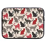Aufnäher Cats Fun with Dots 15-Zoll-Laptoptasche - Tablet Clutch-Tragetasche