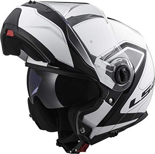 LS2 FF325 Casco de moto Flip Up STROBE CIVIC Casco de motocicleta con