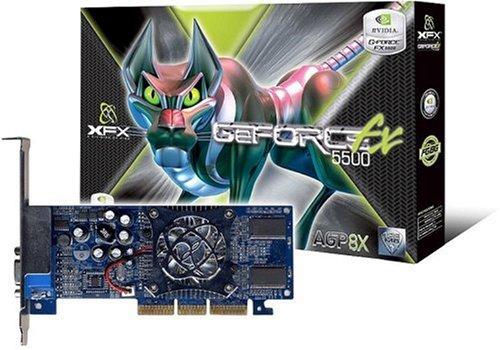 XFX NVidia GeForce FX5500 128MB DDR 8X AGP Grafikkarte (Retail)