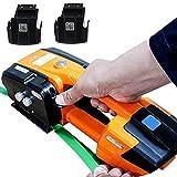 liliiy Flejadora Eléctrica para 13-16mm Pet/PTE, Máquina Flejadora de Automátic Empacadora Eléctrica Portátil para Asegurar Bultos Flejado de Soldadura Incluir Batería Recargable