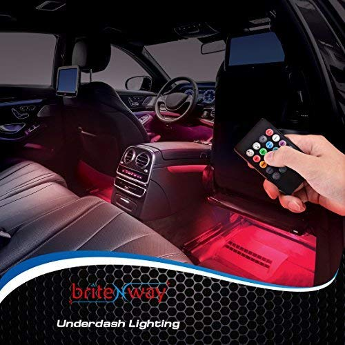 Car Interior Lights Gadget - 7 Colors and Multiple Pattern for Front & Back Underdash Decoration Lighting Accessories 12v Music Rhythm & Sound Activation Function