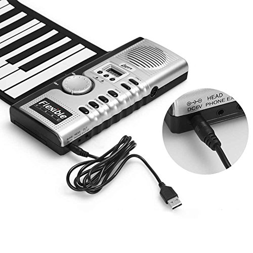 Buy Discount RONSHIN 61 Keys Flexible Roll Up Keyboard Piano Portable Electric Piano Musical Educati...
