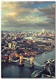 Panorama Poster Tower Bridge London 50 x 70 cm - Gedruckt