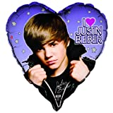 Unique Justin Bieber Heart Shaped 36' Mylar Balloon (1ct)