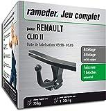 Rameder Attelage démontable avec Outil pour Renault Clio II + Faisceau 7 Broches (130410-03508-1-FR)