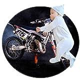 Tapis ronds Moto de course Tapis de sol antidérapant Super Soft Rug pour le décor de chambre d'enfant de salon de chambre à coucher 70cm