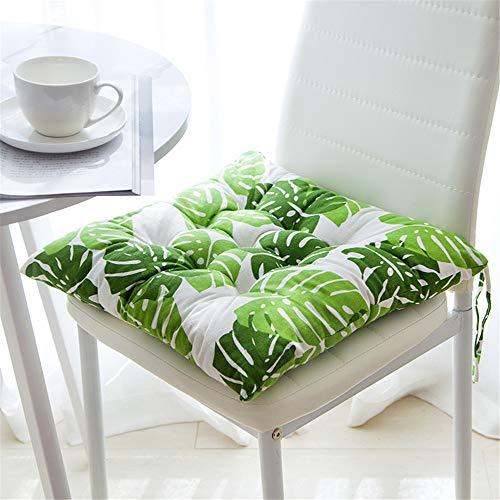 Juego de 4 cojines para silla, 40 x 40 cm, cojín para silla de jardín, balcón, terraza (asiento)