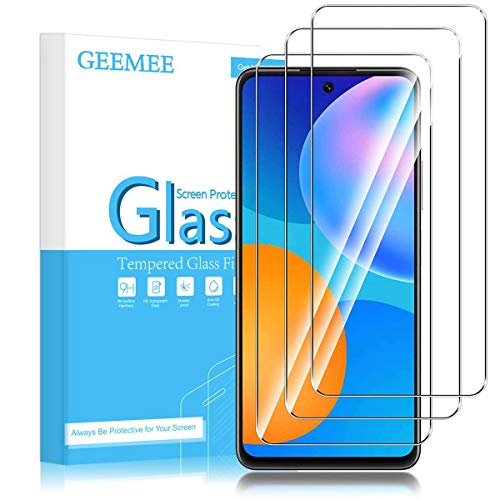 GEEMEE Protector de Pantalla para Huawei P Smart 2021 /Huawei honor 10X Lite, Cristal Templado Película Vidrio Templado 9H Alta Definicion Glass Screen Protector-3 Pack