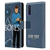 Head Case Designs Licenciado Oficialmente Star Trek Leonard Bones Mccoy Personajes icónicos Tos Carcasa de Cuero Tipo Libro Compatible con Xiaomi Mi 9 Lite