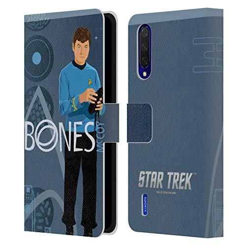 Head Case Designs Oficial Star Trek Doctor Mccoy Personajes icónicos Tos Carcasa de Cuero Tipo Libro Compatible con Xiaomi Mi 9 Lite
