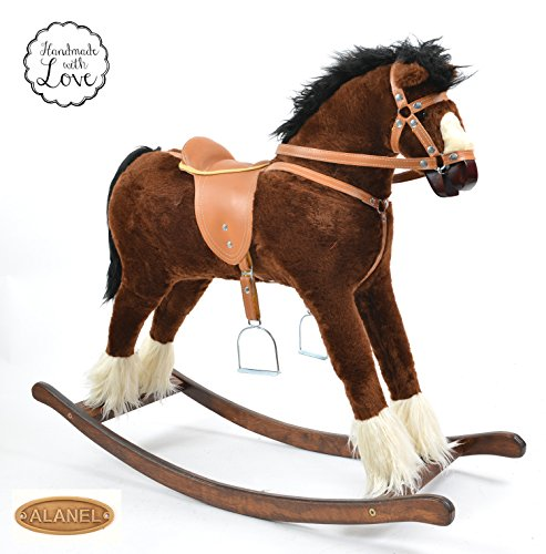 ALANEL TITAN Handmade MEDIUM Rocking Horse MADE IN EUROPE (BROWN)