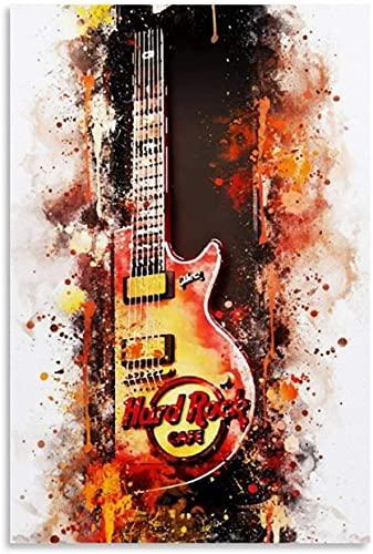 Luck7 Poster Und Gedruckte NYC Hard Rock Cafe und Picture Modern für Porch Decor Leinwand Malerei Wandkunst Bilder 19.7'x27.6'(50x70cm) Kein Rahmen