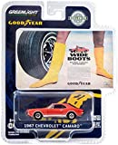 1967 Camaro Orange Wide Boots New Wide Tread Tires from Goodyear Goodyear Vintage Ad Cars 1/64 Diecast Model Car by Greenlight 30195