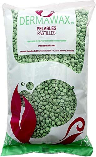 Perlas de cera premium de baja temperatura de 1 kg de té verde sin tiras de cera para la depilación, depilación brasileña Depilación con cuerpo entero, piernas, cara y brazos