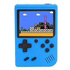 1.Gameboy of 3 Inch Color Screen - is slim , portable and trendy, 150g lightweight, can be with you in your pocket, bag, etc. It perfect for traveling or on the go.If You find the scratches on The screen after receving the game console,Just Tear Off ...
