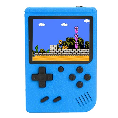 Handheld FC Games Consoles ,Built-in 400 Classic Games, Portable Gameboy 3 Inch LCD Screen TV Out Put ,Good Gifts for Kids Boys Girls Men Women (Games Consoles Blue)