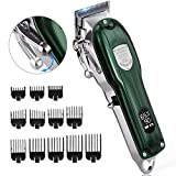 Mens Hair Clippers, JM-103 Pro Hair Clippers for Barbers and Stylists, Cord/Cordless Hair Trimmer LCD Durable Haircut Kit with Long 5+ Hours Run Time