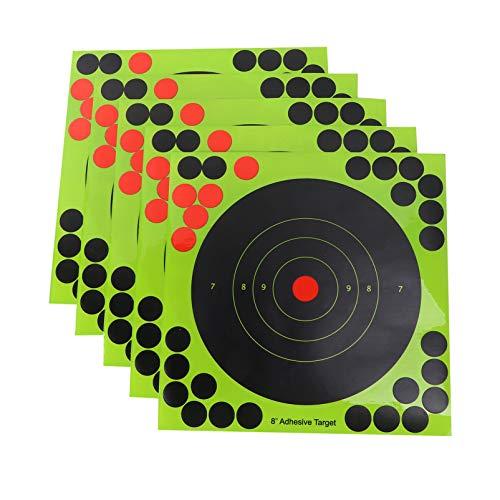 25 Adhesivo Stick 8 Inch pegatinas de objetivo para disparar objetivos de papel autoadhesivo fluorescentes con salpicaduras, pegatinas de apuntar