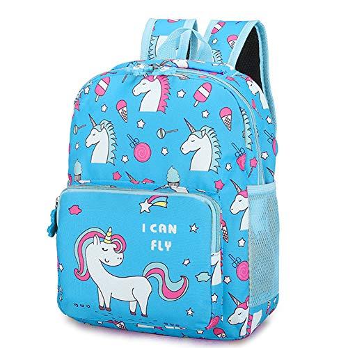 Mochila Niña,BETOY Mochila Unicornio Niños, Mochila para niñas Bolso Escolar Unicornio Niños Lindos Ligero Escuela Secundaria Intermedia Bolsas de Libros (Azul)