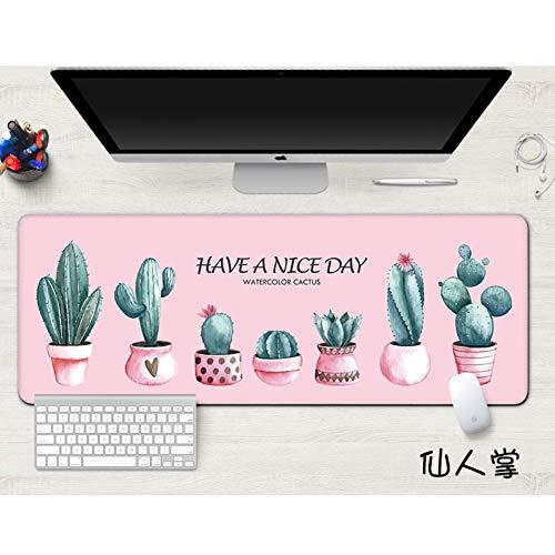 Z IMEI Verlängert Laptop Tastatur Mouse Pad Mit Stich Dicke 4 Mm Schreibtisch-mauspad Nicht-Slip Gummi Basis Mäuse Pads Schreibtisch Blotter Gaming-schreiben Matte-h 50x100cm/20x39inch