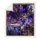 Spitfire Dragon Blanket 3D Sherpa Throw Blanket for Bed Fierce Dragon Printed Blanket for Kids and Adults Soft Fluffy Fleece Blanket Bedding (Style6, 130cm x 150cm(51'' x 59''))
