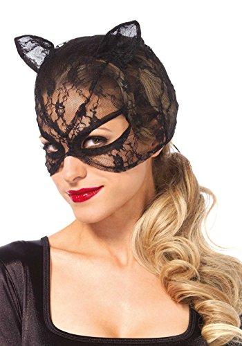 Leg Avenue 3746 - kant kat masker - één maat, zwart